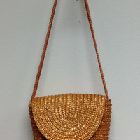 Woven & Golden w Rope Stap Purse (V)