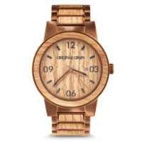 Whiskey by Original Grain | Men's Watch | 47mm | Espresso Stainless Steel Band | Barrel Line