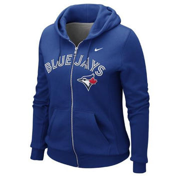 Nike Toronto Blue Jays Ladies Classic Full Zip Hoodie - Royal Blue