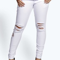 India Ripped Knee Jean