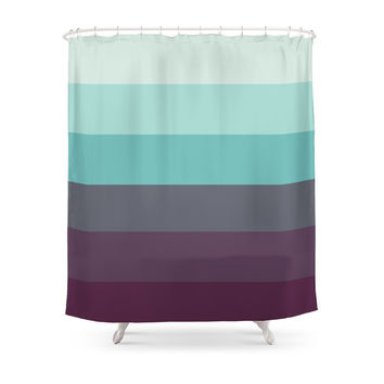 Society6 Saltwater Swimsuit Ombre Shower Curtain