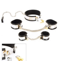 Rapture 5 Piece Steel Band Bondage Set - Small