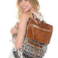 Brandy ♥ Melville |  Tribal Leather Flap Backpack - Backpacks - Bags - Accessories