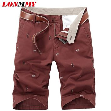 LONMMY Military style Cargo shorts board Cotton Fashion print Shorts men Brand clothing Men shorts beach 2017 Summer