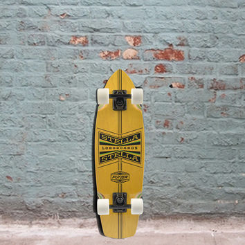 Longboard Skateboard Mini Cruiser Putzer Complete - 27 x 8 - Yellow