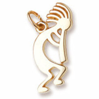 Kokopelli Charm in Yellow Gold Plated