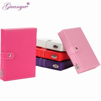 1PC New Display Jewellery Gift Box Popular Jewelry Boxes And Packaging Pu Leather Stud Earrings Collection Creative Jewelry