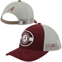 Top of the World Alabama Crimson Tide Rufus Strapback Adjustable Trucker Hat - Crimson