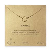 Gold Karma Necklace by Dogeared