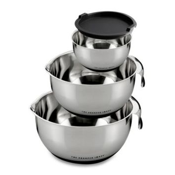 Sharper Image® Mixing Bowls with Non-Skid Base (Set of 3)