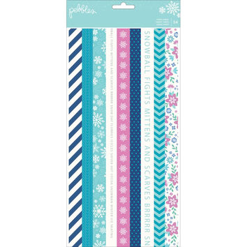 Winter Wonderland Washi Strip Booklet; 54 Pieces by Pebbles