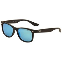 Ray Ban Kids Youth RJ 9052S 9052/S 100S55 Matte Black RayBan Sunglasses 48mm