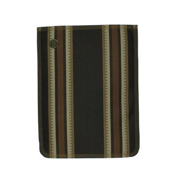 Focused Space The Burlap Striped Canvas Laptop Case