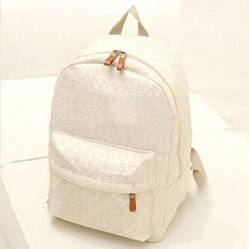 2017 Women Lace Backpacks Canvas Shoulder School Bag For Girl Ladies Teenagers Travel Bags Schoolbag Bagpack Mochila Feminina
