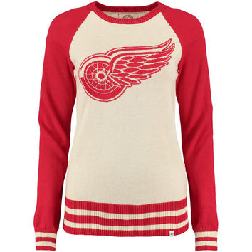 Women's Detroit Red Wings '47 Tan Passblock Knit Sweater