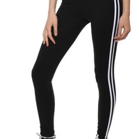 Suzette 2 Stripe Wide Band Legging