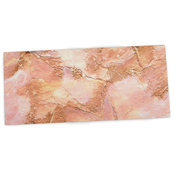 "Rosie Brown ""Bronze It"" Orange Paint Desk Mat"