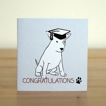 Graduation greeting card - Little puppy says Congratulations!!