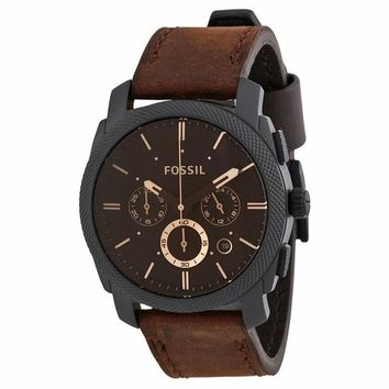 Fossil Mens FS4656 Chronograph with Brown Leather Strap Watch