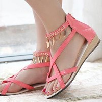 Bohemian Manilo Sandals from guipure