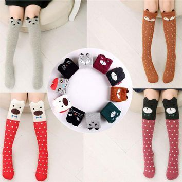 Sock Print Animal Cotton Baby  Knee High Long Socks