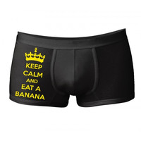 "Funny men's underwear ""Eat banana"""