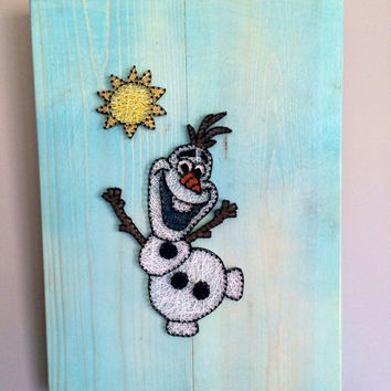 Olaf string art from the movie frozen - wall decor!