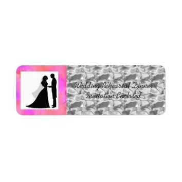 """Wedding Rehearsal Dinner Invite"" Envelope ""Label"" Label"