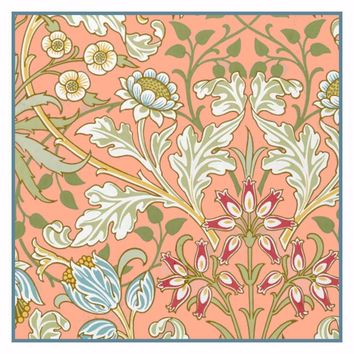 Hyacinth in Pastel Colors by William Morris Design Counted Cross Stitch or Counted Needlepoint Pattern