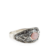 Sterling Silver Ethnic Shield Ring | Silver | Accessorize