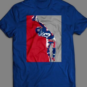 "GIANTS ODELL BECKHAM JR ""THE CATCH"" POP ART T-SHIRT"