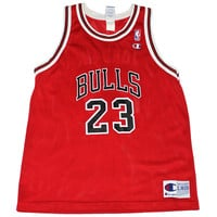 Vintage Champion Chicago Bulls #23 Michael Jordan Jersey Mens Size Medium
