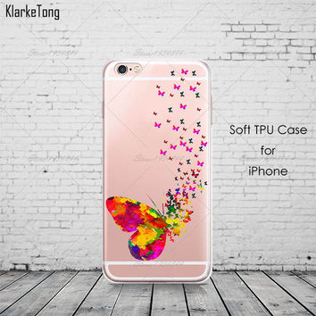 Butterfly Phone Case For iPhone 7 7Plus 6 6s Plus 5 5s SE
