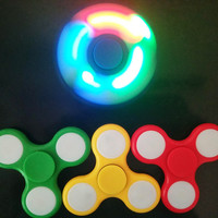DearDeer LED Light Hand Finger Spinner Fidget Plastic EDC Hand Spinner [11343933903]