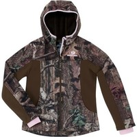 Mossy Oak Break-Up Infinity Girls' Mixed Media Softshell Jacket - Walmart.com
