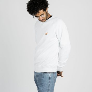 Fox Head Patch Sweatshirt White