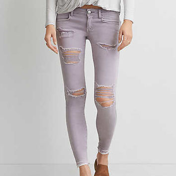 AEO Twill X Super Low Jegging , Lavender