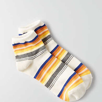 AEO Striped Ankle Socks, Toasted Coconut