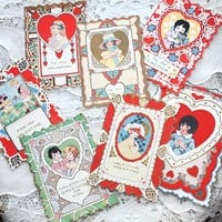 Set of 7 Vintage Whitney Valentines Cards