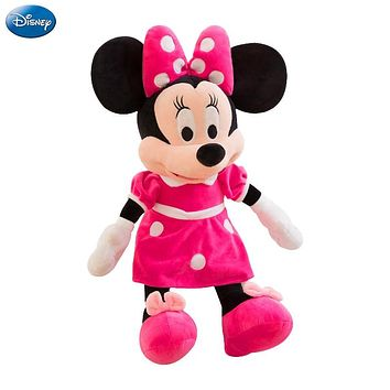 40cm Disney Mickey Mouse Minnie Animal Stuffed Plush Toys Kawaii Doll Children