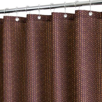 Park B. Smith® Bamboo Basket Brown 72-Inch x 72-Inch Watershed® Shower Curtain
