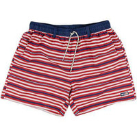 Dockside Swim Trunk in Red, White and Blue by Southern Marsh