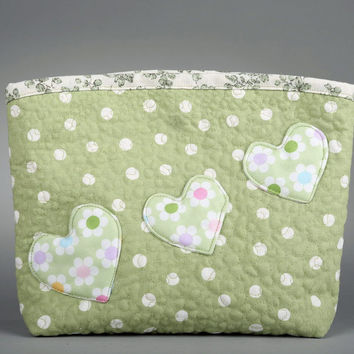 Cotton handmade cosmetics little bag Embroidered
