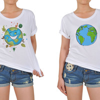 Women's Earth Global Printed Cotton T-shirt WTS_12