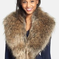 Junior Women's BP. Oversized Faux Fur Collar (Online Only)