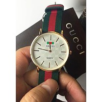 GUCCI trendy men and women fashion quartz movement watch F