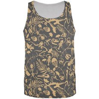Dinosaur Fossil All Over Adult Tank Top