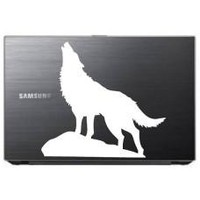 Wolf Howling Animal Car Window Decal Automobile Tablet Decal Tablet PC Sticker Wall Laptop mobile truck Notebook macbook Iphone Ipad Brand: StickerPR