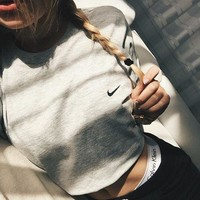 NIKE Fashion Cotton Short Sleeve Cami Crop Shirt Top Tee