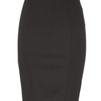 Pull On Ponte Pencil Skirt - Black